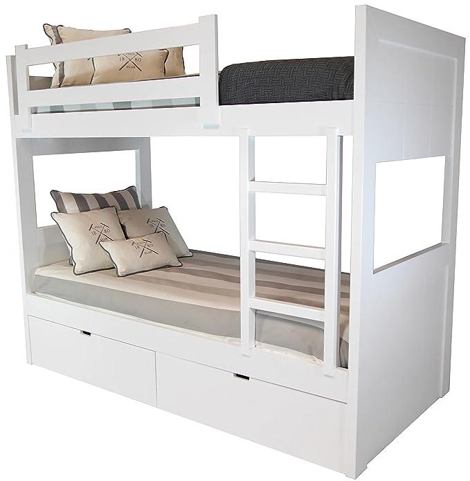 Litera 2 camas y cajones en MDF (dm) 4 cm de grosor: Amazon ...