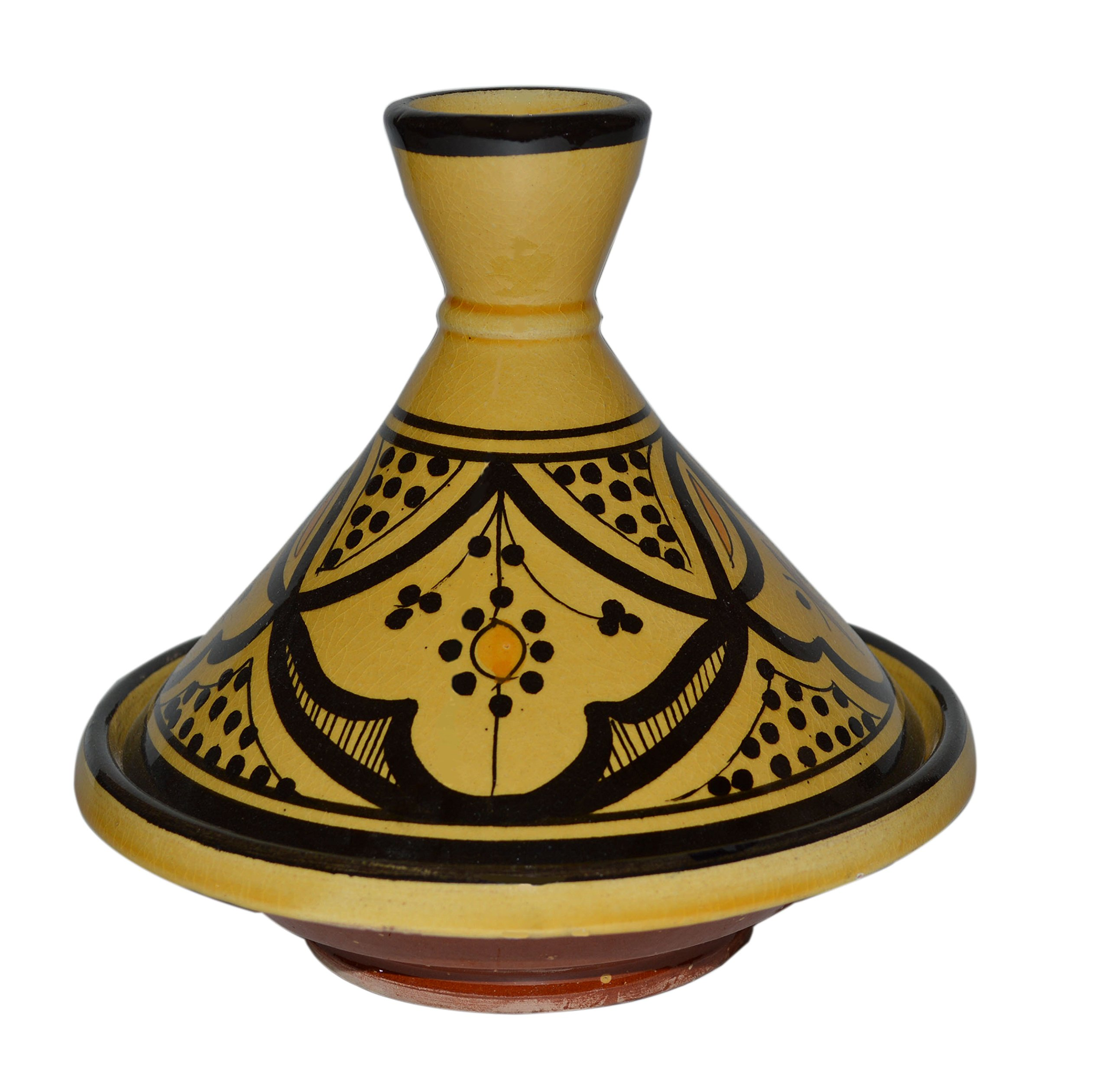 Moroccan Handmade Serving Tagine Exquisite Ceramic Vivid colors Original 6 Inches in Diameter by Cooking Tagines