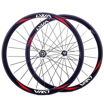 LVWA® plena 3 K de fibra de carbono Ruedas para bicicleta carretera bicicleta 700 C rueda Tubular WHR38T1L: Amazon.es: Deportes y aire libre