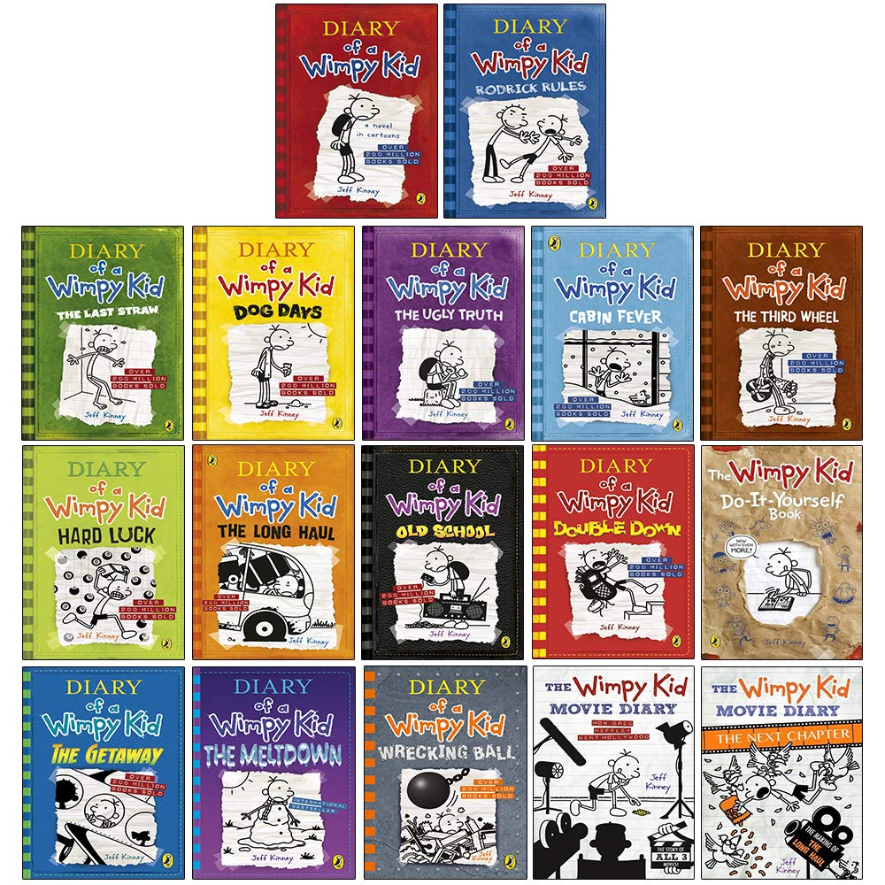 Diary Of A Wimpy Kid The Ultimate Complete 17 Books Collection Set By Jeff Kinney The Meltdown Wrecking Ball Movie Diary Movie Diary The Next Chapter Hardcover Amazon Co Uk Jeff