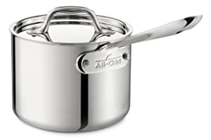 All-Clad 4202 Sauce Pan with Lid 2-Quart Silver