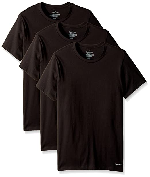 cc73b1fce1 Calvin Klein Mens Undershirts Cotton Multipack Crew Neck Tshirts Short  Sleeves Undershirt - Black -
