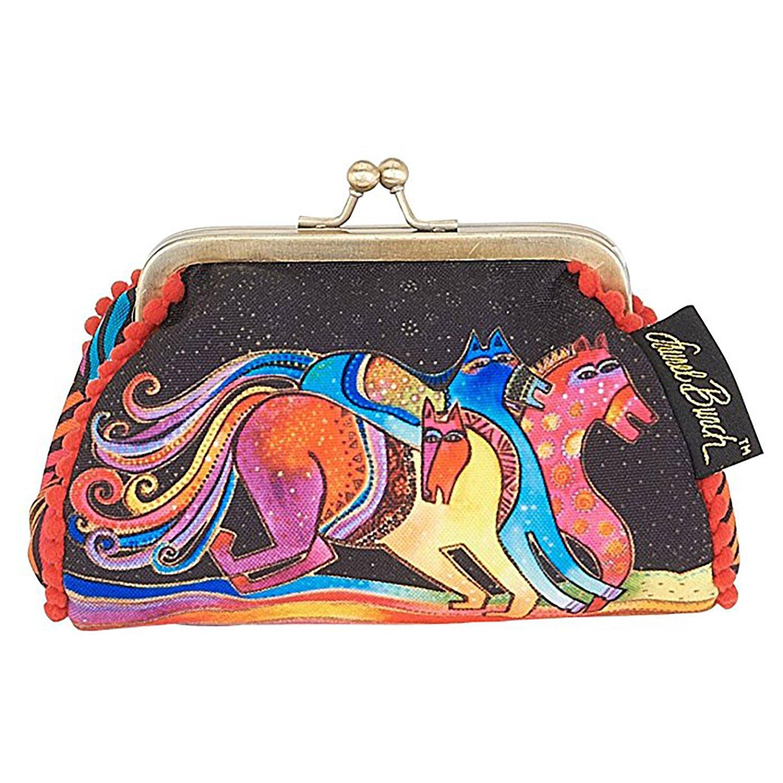 Laurel Burch Coin Purse Caballos de Colores Horses