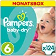 Pampers Baby Dry Windeln, Gr. 6 (ab 15 kg), Monatsbox, 1-er Pack (1 x 124 Stück)
