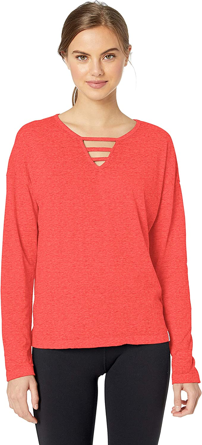 Marc New York Performance Women's Cool Wash Long Sleeve Cut-Out Front Tee