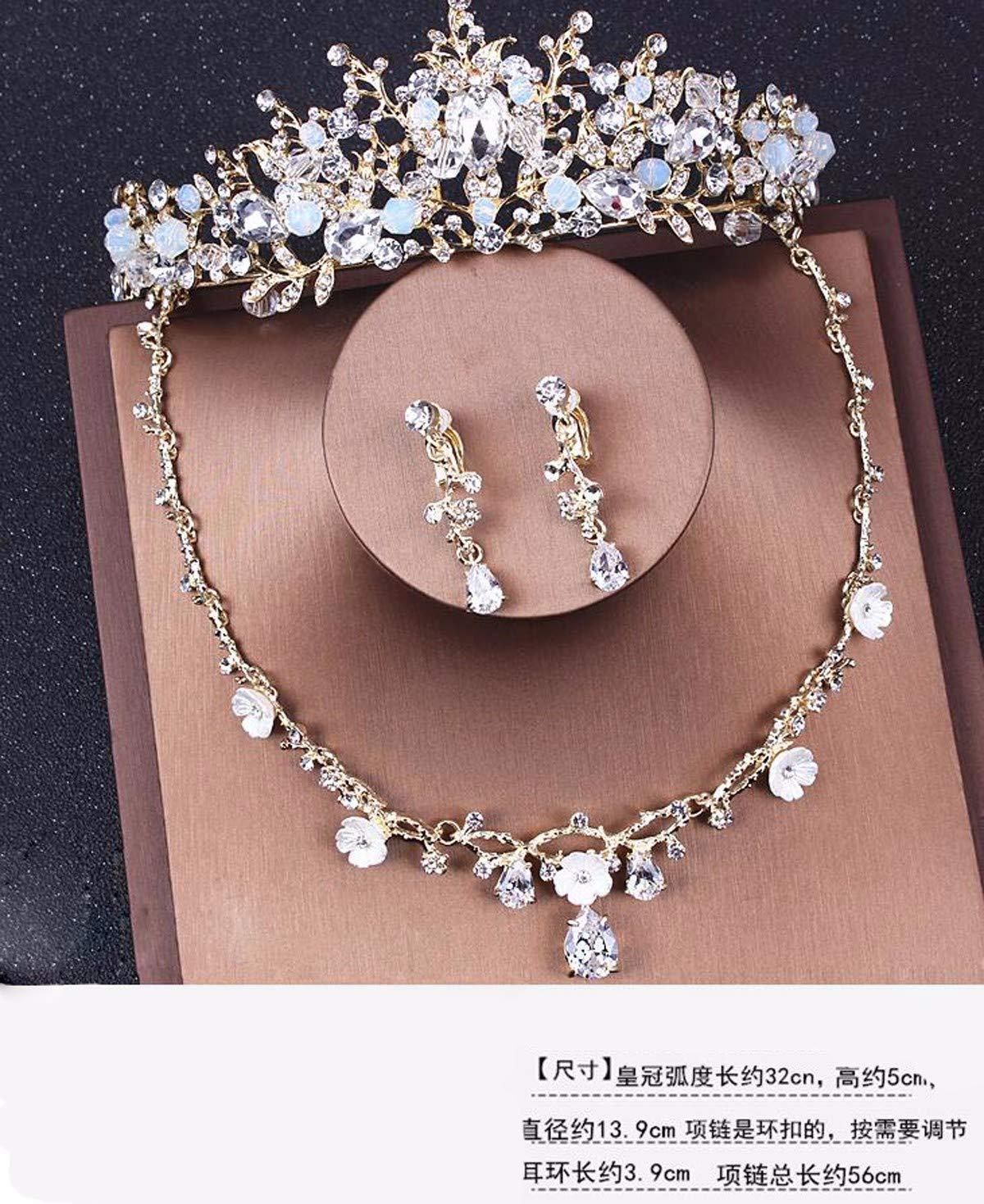 Girls Crown, Beautiful headdress/Crown Dress Bridal Wedding Accessories Necklace Baroque Crown Wedding Accessories by Zehaer (Image #3)
