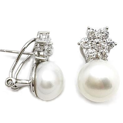 44b4b58a3cce Luymar - Pendientes Mujer Plata de Ley 925 y Perlas Cultivadas ...