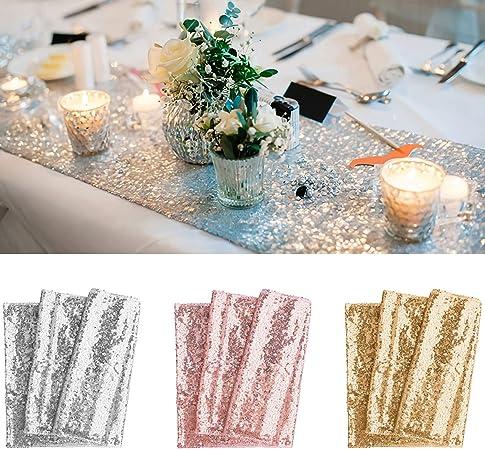 Red Color 30 x 180 cm 30x180cm . Shinybeauty colore a scelta Runner da tavola in paillettes oro rosa come decorazione per matrimoni//eventi