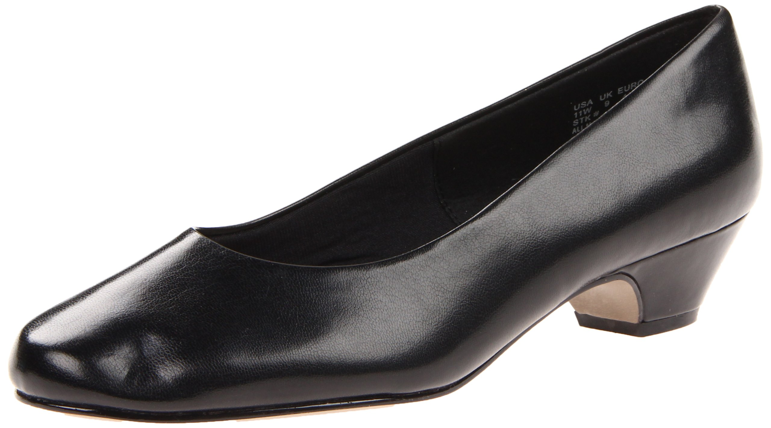 Soft Style Women's Angel II Pump,Black Smooth,9 M US
