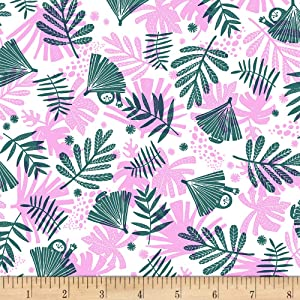 EXCLUSIVE Kaufman Hello Lucky! Lawns Leaves Blossom Fabric by the Yard