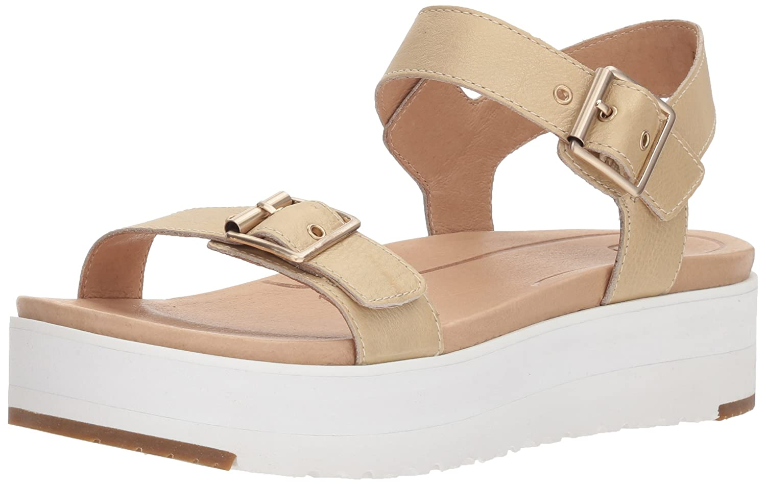 5d6b7e438b3 UGG Women's Angie Metallic Leather Sandal: Amazon.co.uk: Shoes & Bags