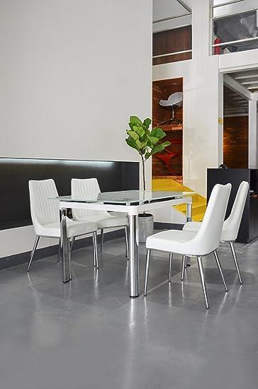 Amazoncom Bellona 5 Piece Extendable Dining Set Table WF330