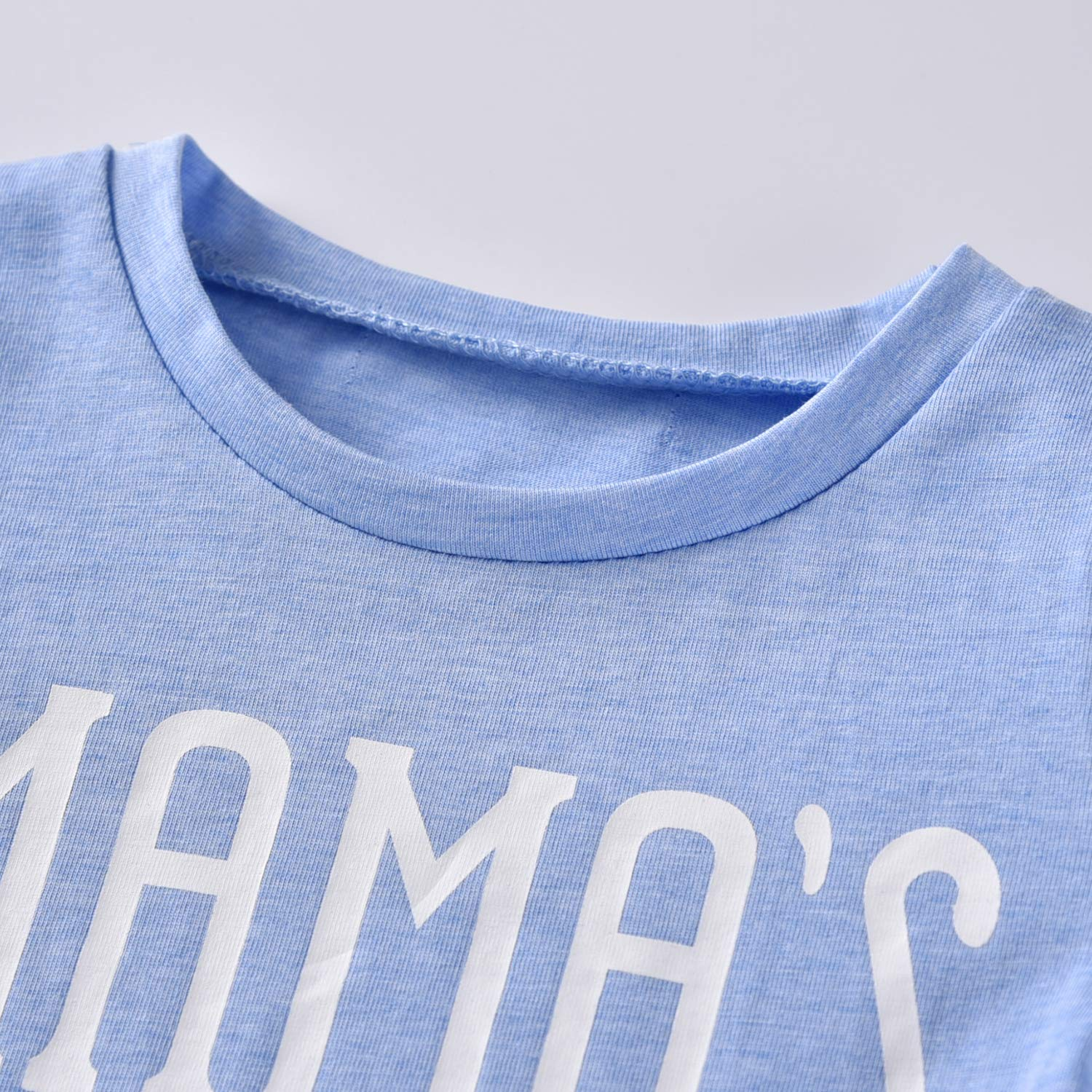 20cb75dd Baby Boys Mama's Boy Short Sleeve T-Shirt Tops Geometric Pants Clothes Set  larger image