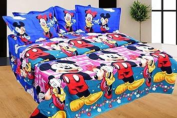 shivamconcepts 3-D Glace Cotton Bedsheet (Double Size, Multicolour)