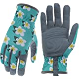 Baidast Gardening Gloves for Women,Breathable Leather Work Gloves with Deerskin Suede,Thorn Proof Gloves for Yark/Garden