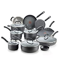 Deals on T-fal E765SH Ultimate Hard Anodized Nonstick 17-Pcs Cookware Set