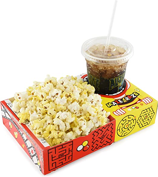 Amazon.com: Snappy Maze Craze Combo Movie Popcorn Bandejas ...