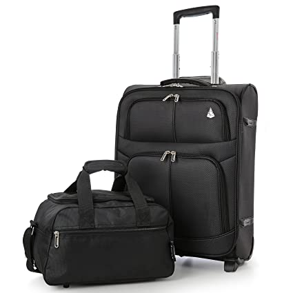 79736c330 Ryanair 55x40x20cm and 35x20x20cm Aerolite Lightweight Hand Luggage Cabin  Suitcase & Second Additonal Bag, Take
