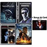 Terminator: Complete Movie Series DVD Collection - 5 Films (The Terminator / Judgement Day / Rise of the Machines / Salvation