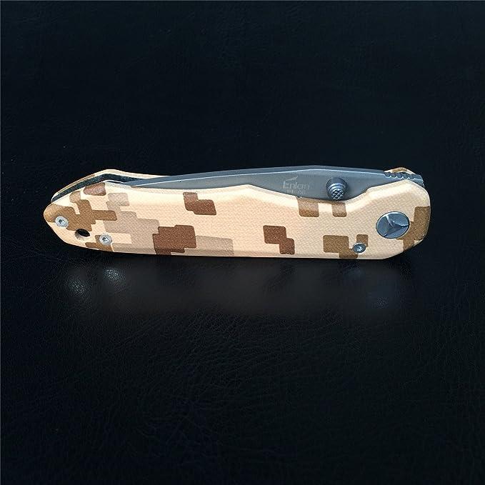 Enlan EL-06PF Navaja Outdoor Supervivencia Cuchillo Plegable ...