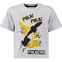 Pokèmon Camiseta Lentejuelas Reversibles para Niños | Top De Algodón Gris De Pikachu En Lentejuelas Negras Y Doradas…