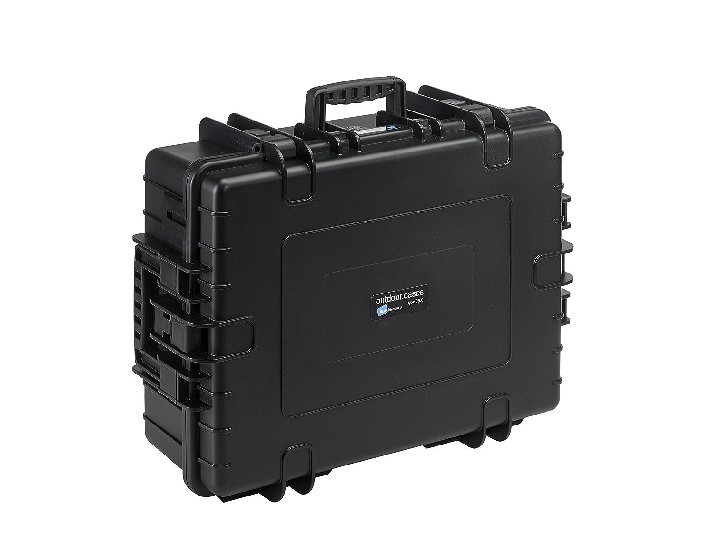B & W International 6500 /B/RPD 6500アウトドアケースwith RPD挿入耐久性タイプ、ブラック   B01ITRLOI2