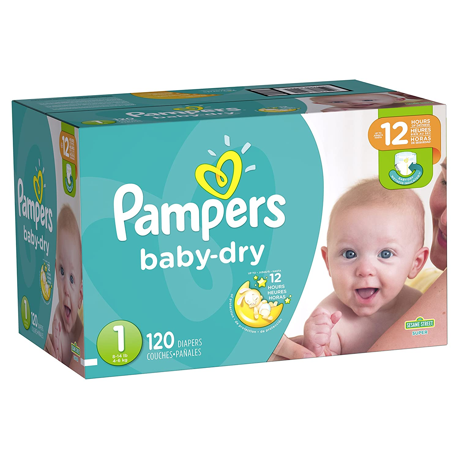Amazon.com : Pampers Baby-Dry Disposable Diapers Size 4, 128 Count : Baby