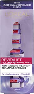 L'Oréal Paris Revitalift Filler Revolumising Anti-Ageing Serum in Ampoules, with Hyaluronic Acid, Dermatologically Tested, 50 ml