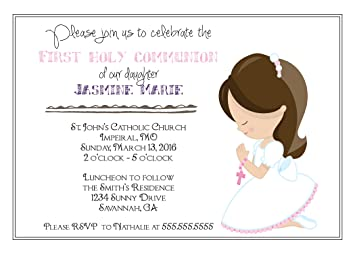 Amazoncom Customized Girls First Communion Invitation Toys Games