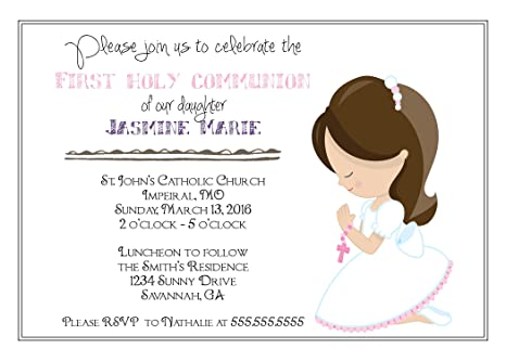amazon com customized girls first communion invitation toys games