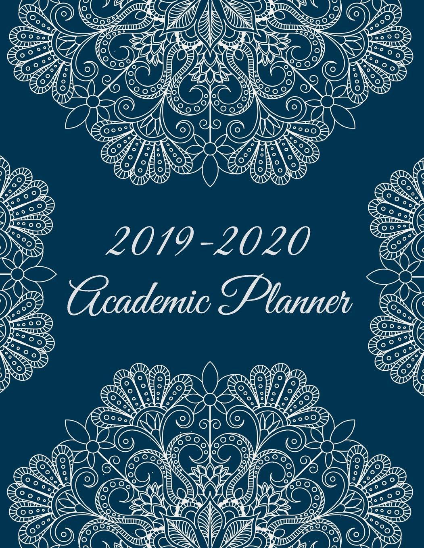 2019-2020 Academic Planner: Beautiful Mandala, 8.5