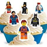 Cakeshop 12 x PRE-CUT Lego Movie Stand Up Edible Cake Toppers