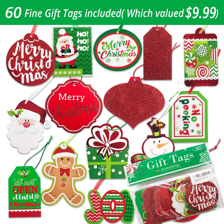Christmas Gift Bags Assorted Sizes Medium Large Small Bulk Set of 15