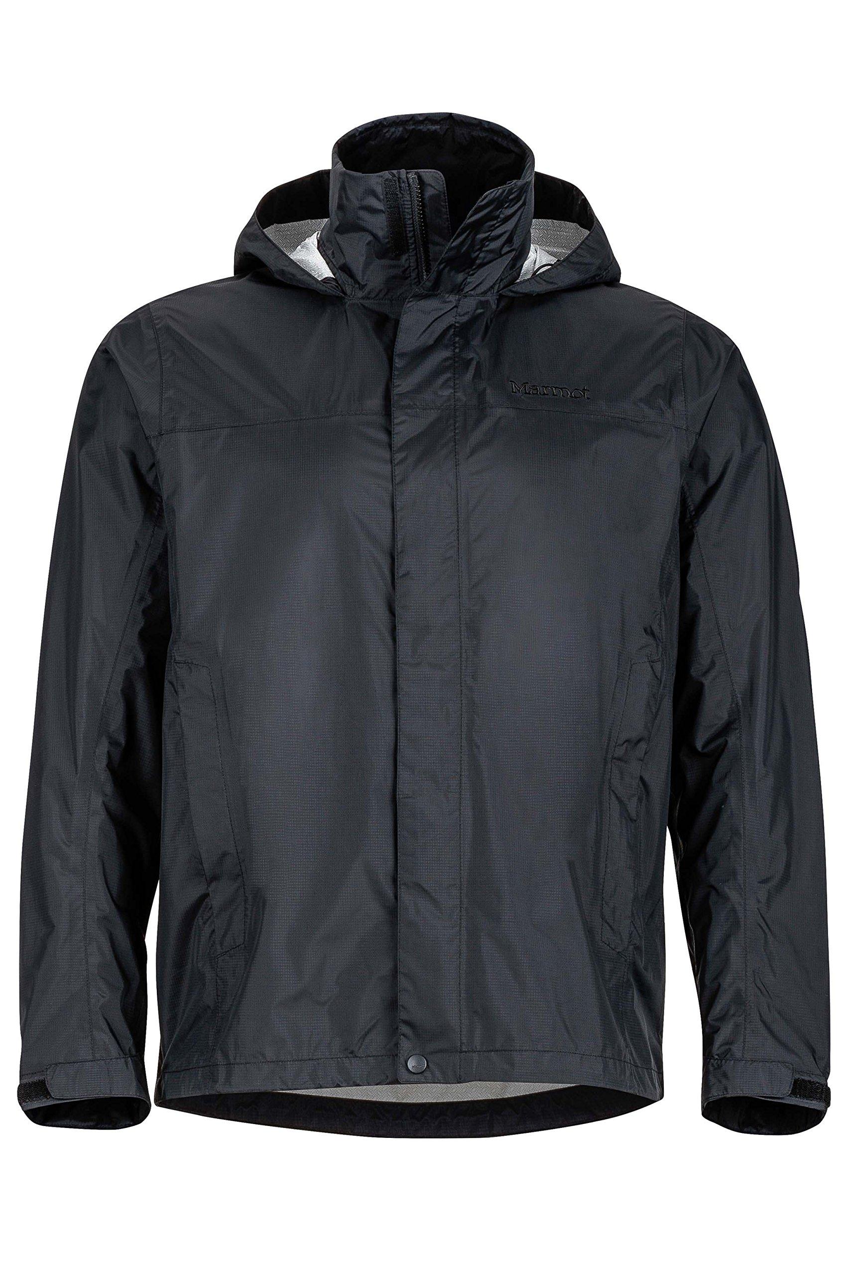 Marmot Men's PreCip Jacket, Jet Black, S