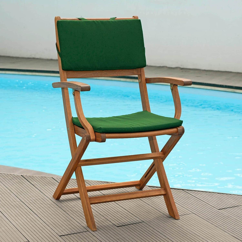 Set cojines para sillas plegables en verde Funda con ...