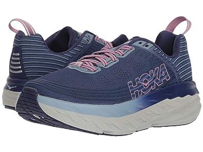 c9bcb4f1c3720 HOKA ONE ONE Womens Bondi 6 Running Shoe (7 D US, Marlin/Blue Ribbon)