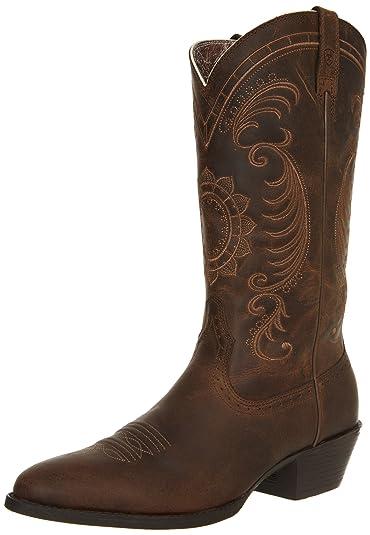 c4061ac5e5 ARIAT Women s Magnolia Western Boot Distressed Brown Size 5.5 B Medium Us