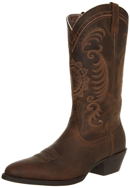 Ariat Women's Magnolia Western Cowboy Boot B0091W46BM 6.5 B(M) US|Distressed Brown