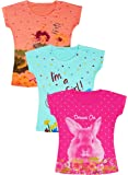 Stay Little Girls Half sleeve Cotton T-Shirts Combo(Multicolour, 2-3 Years)