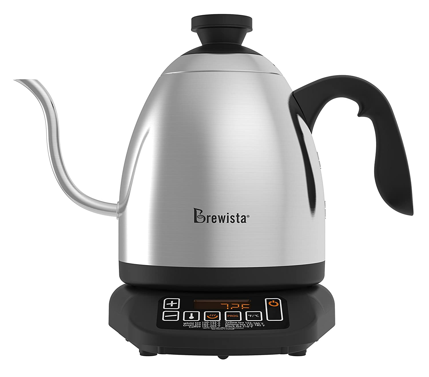 Brewista SmartPour Stovetop Cupping Kettle with Analog Temperature Gauge - 1.2L BKS12S01G2TG