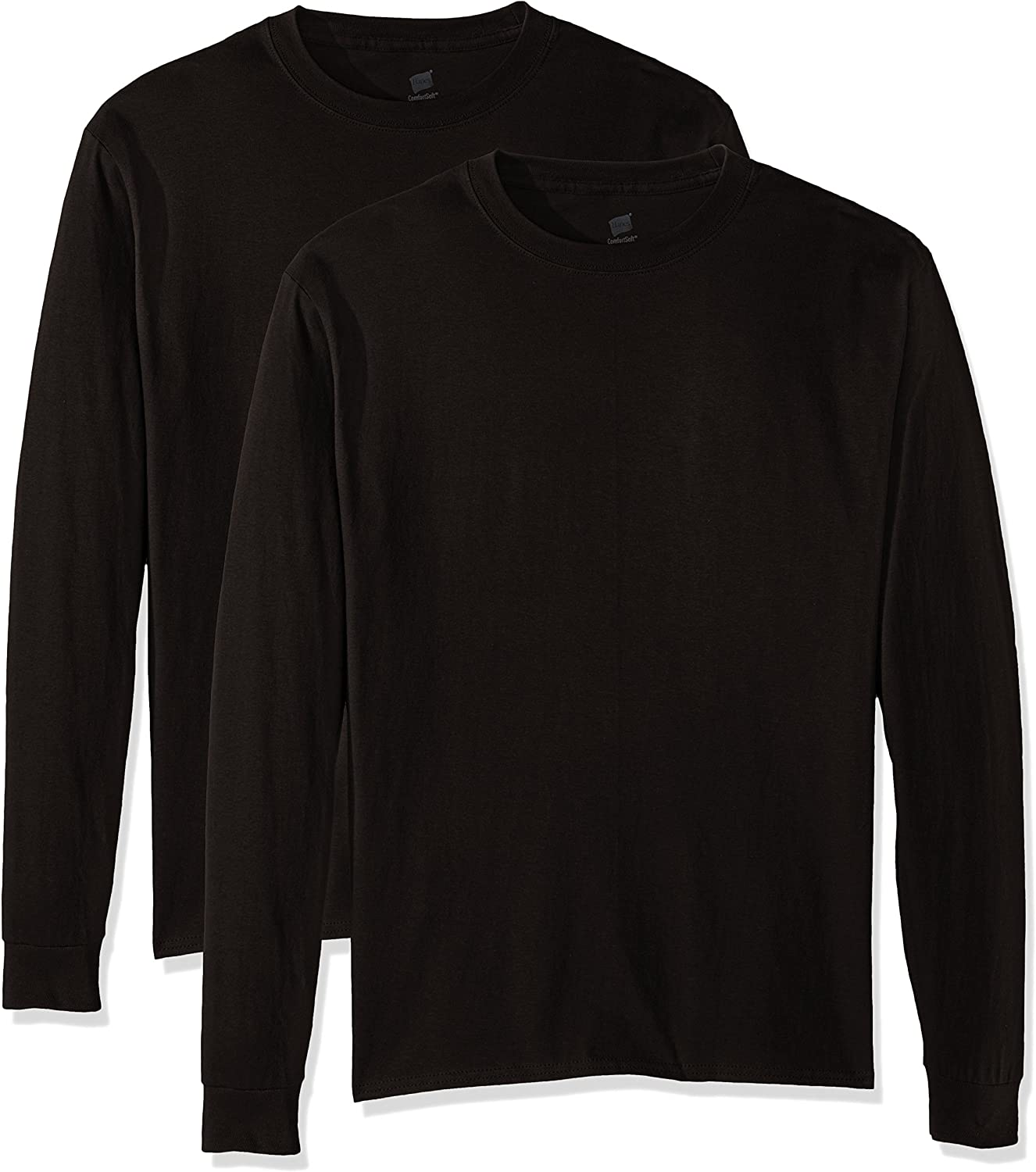 Hanes Mens 4 Pack Long Sleeve T-Shirt 2 Navy 5286 2 Black Small