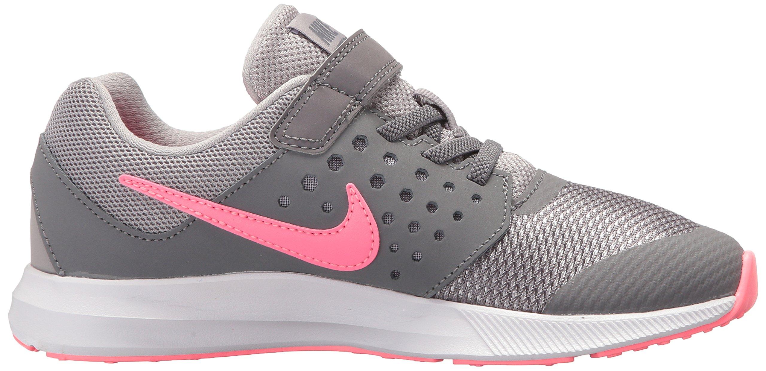 Nike Girls' Downshifter 7 (PSV) Running Shoe, Gunsmoke/Sunset Pulse-Atmosphere Grey, 2 M US Little Kid by Nike (Image #7)