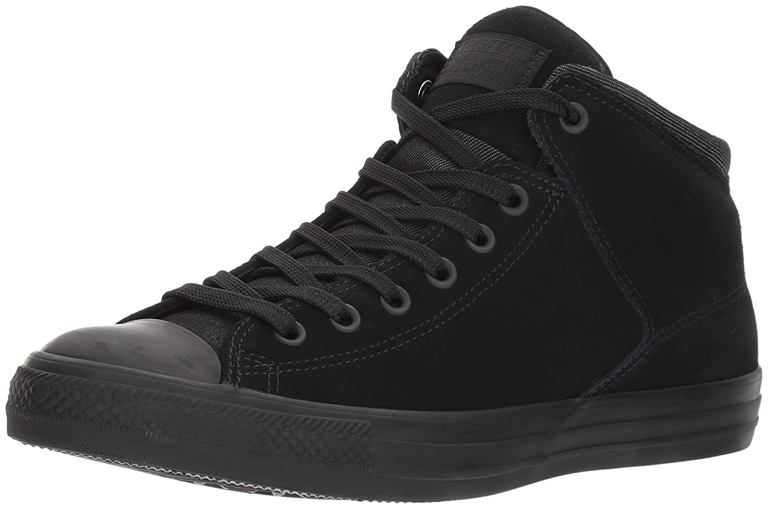 Converse Men's Chuck Taylor High Street Mid Top with Thermal Lining B06XHNCK4D 10 D(M) US|Black/Black
