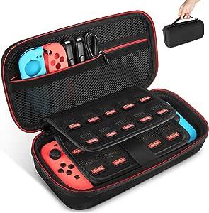 Keten tas voor Nintendo Switch, draagtas voor de Nintendo Switch console, games, Joy-Con en andere Nintendo Switch accessoires