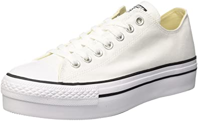 Converse CTAS Ox White, Baskets Mixte Adulte, Blanc (White 100), 36 EU