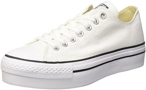 Converse CTAS Ox, Zapatillas de Gimnasia para Mujer, Blanco (Bianco), 42.5 EU: Amazon.es: Zapatos y complementos