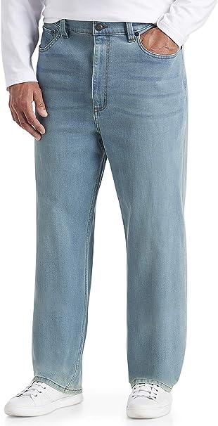 Essentials Men/'s Big /& Tall Relaxed-fit Casual Size 48W x 30L Black