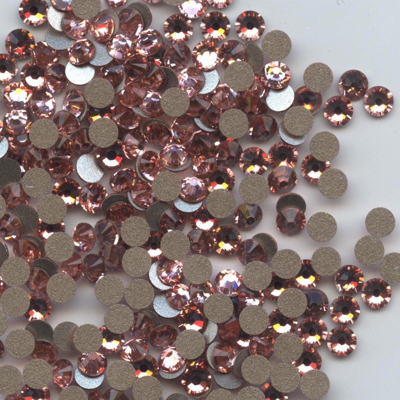 2058 SS12 RP** 80 STRASS SWAROVSKI FOND PLAT SS12 (3, 10mm) ROSE PEACH