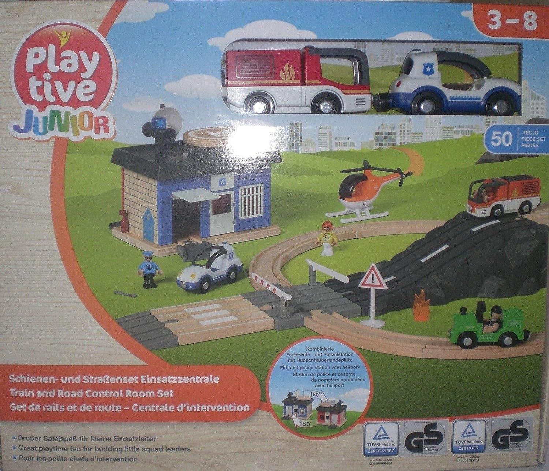Holzspielzeug Einsatzfahrzeuge 4-teilig von Play Time Junior 3-8 Jahre
