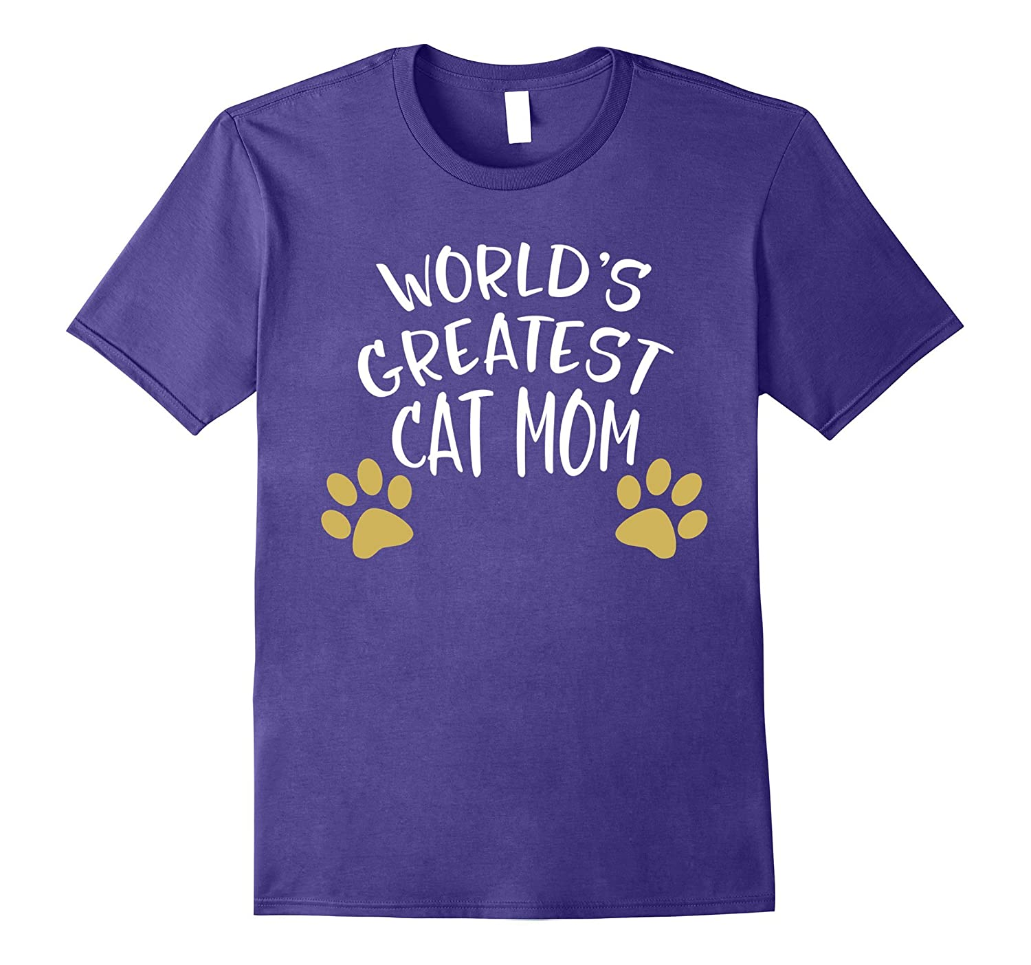 World's Greatest Cat Mom Paw Mother's Day Mommy T Shirt-Art